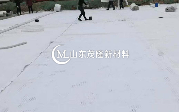 《运城机场航站区改扩建工程》土工布施工