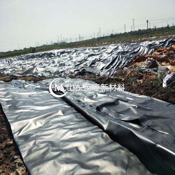 HDPE土工膜在铺设时应防止褶皱的形成