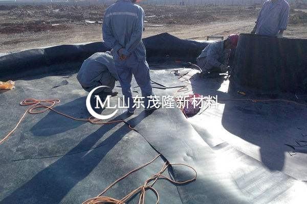 土工膜施工前的材料准备