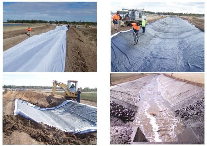 复合土工膜在灌区得到广泛应用,主要有四大优点
